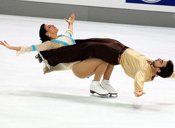 trajes dazna sobre hielo y patinaje