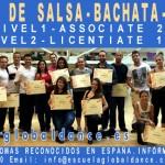 Cursos de PROFESOR DE SALSA en Madrid con diplomas oficiales ASSOCIATE y LICENTIATE