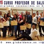 CURSO DE PROFESOR DE SALSA – 31 ENERO 2015 EN MADRID. DIPLOMAS OFICIALES!