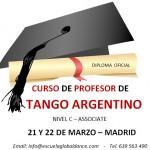 Nuevo Curso de Profesor de Tango Argentino Associate – 21 y 22 Marzo en Madrid