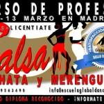 Curso de Profesor de Salsa, Bachata y Merengue. 12 y 13 Marzo de 2016